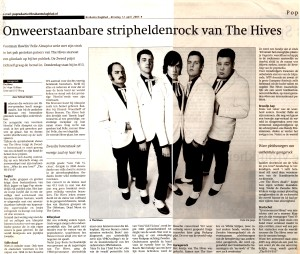 Artikel The Hives (Brabants Dagblad)