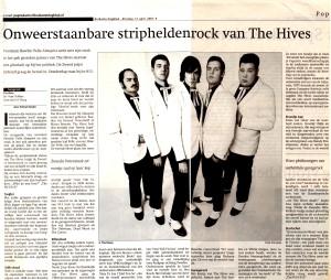 Artikel The Hives (Brabants Dagblad)